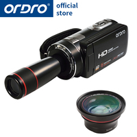 Ordro Digital Video Camera HDV Z18 Plus 1080P FHD Camcorder with 0.39X Super Wide Angle Lens and 12X Teleconverter HDMI Output