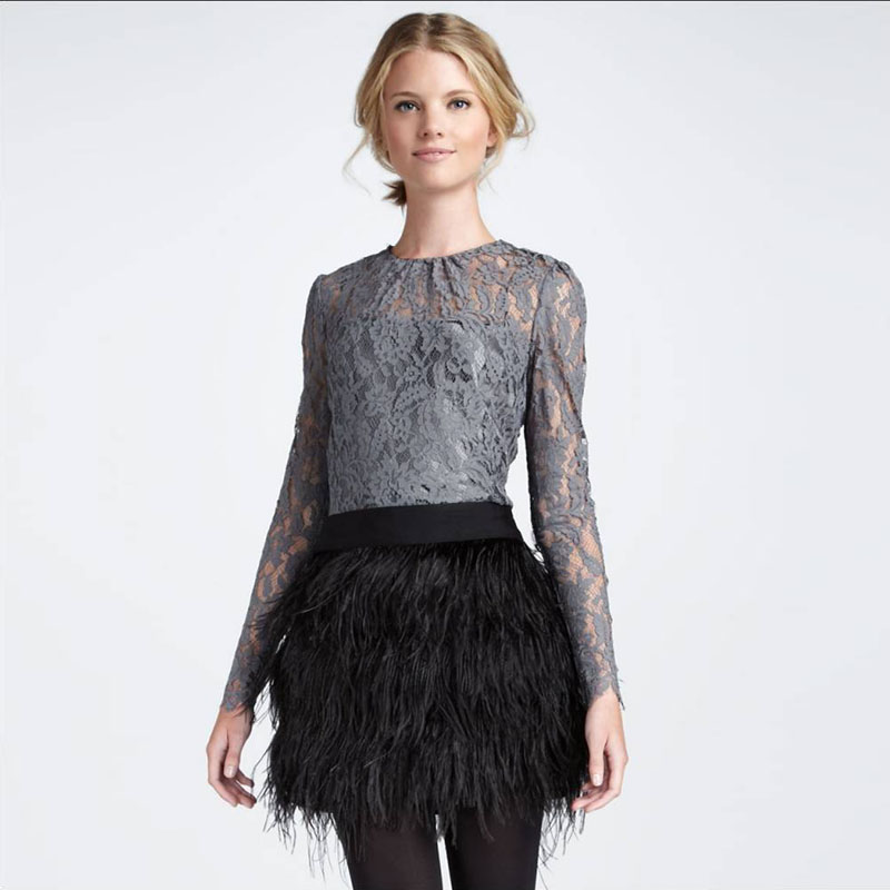 Popular Ostrich Feather Skirt-Buy Cheap Ostrich Feather Skirt lots ...