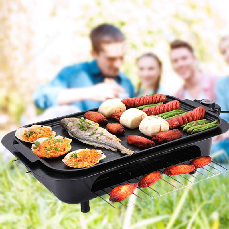 Barbecue Electric grill cooktop squeegee electric skewer convection oven spit 110V pan hotplate machine grill oven barbecue bbq