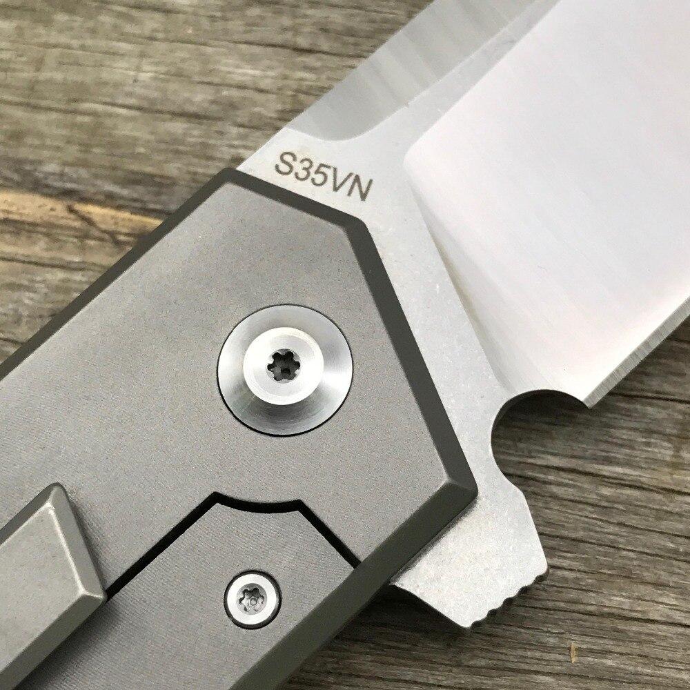 LDT T01 táctica cuchillo plegable s35vn cuchilla TC4 Titanium ...