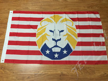Trump Flag MAGA Lion 3′ x 5′ -Make America Great Again100D Polyester Free Shipping