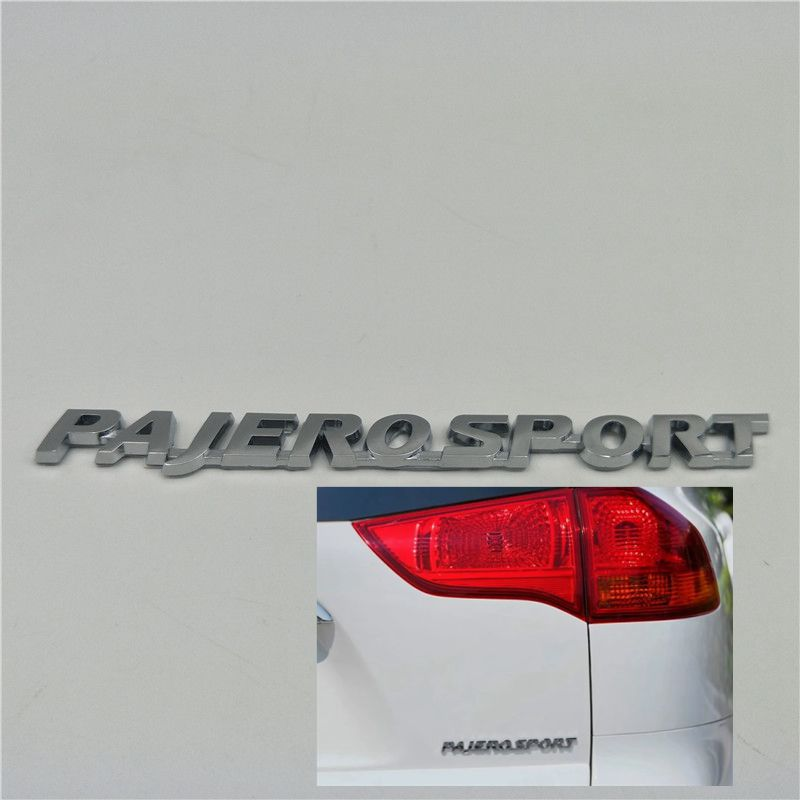 Pajerosport Rear Trunk Badge Emblem Logo For Mitsubishi Pajero Sport 2010-2016 Nameplate Triple Diamond