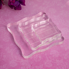 Transparent Silica gel Stamp Acrylic Block Pad DIY scrapbooking Rubber Stamp Clear StampColor Process Essential Tools 5*5cm