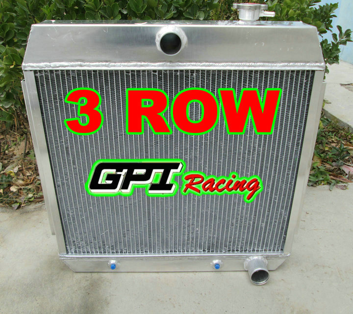 55-57 CHEVY SMALL BLOCK 150//210 SBC V8 3-ROW CORE FULL ALUMINUM RACING RADIATOR