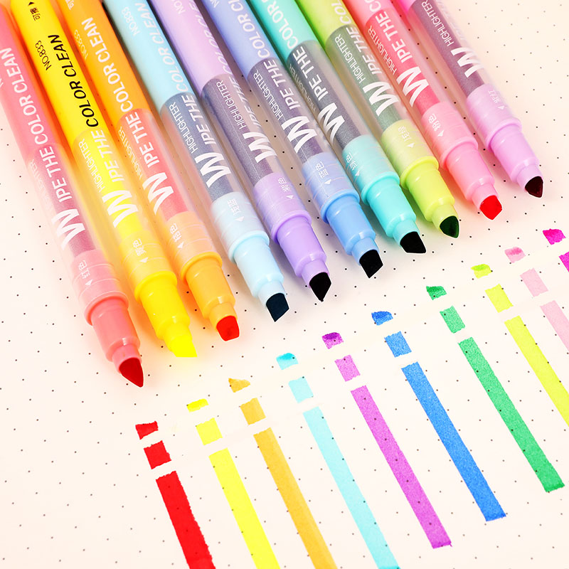 5//10PCS White Gel Ink Marker Pen Drawing Painting Art Pastel Tool Stationery