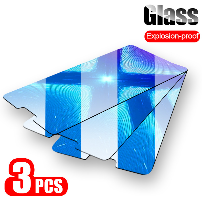 3-1 PCS Full Cover Tempered Glass For Huawei Honor 10 9 8 20 Lite Screen Protector Glass For Huawei Honor 8X Max 8C 20i Film image