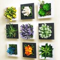 3d ثلاثي الأبعاد محاكاة العصارة زخارف الحلي غرفة المعيشة خلفية جدارية الجدار الشنق المنزل الإبداعية البلاستيك