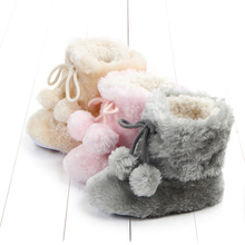 Winter Baby Shoes Coral Velvet Boots Warm Fashion Infant Boys Girls Prewalker Soft Toddler Casual Shoes bebek ayakkabi
