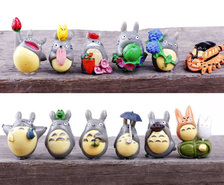 2015 Hot 3.5cm 12 Pcs/set Pvc Japanese Anime Figures Set My Neighbor Totoro Action Figures Set Best Gift For Girls Toys & Hobbies