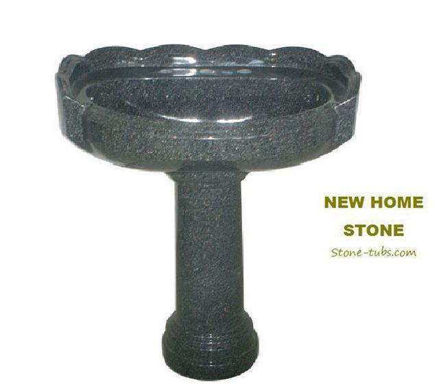 corner pedestal sink fine temple green granite stone carved pedestal sink highly smooth polished