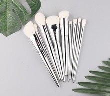 9pcs/Set Makeup brushes Set Foundation Blusher Bronzer sculpting Highlighter Eye shadow eyebrow Make up brush cosmetic beauty