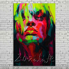 Palette knife portrait Face Oil painting Character figure canvas Hand painted Francoise Nielly wall Art picture 112