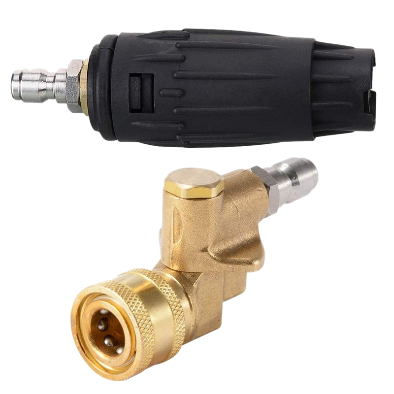 Pressure Washer Tips, Adjustable Pressure Washer Nozzle Tip 1/4 Inch 3000 Psi, Quick Connecting Pivoting Coupler 1/4 Inch 4500(China)