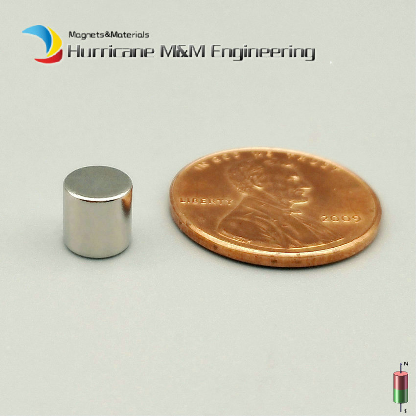 1 Pack NdFeB Micro Magnet Disc Dia 6x6 mm Magnet Neodymium Magnets Sensor Rare Earth Tinny Magnets Grade N42 NiCuNi tny by tinny 398027