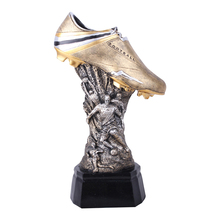 Resin Sports Crafts Figurine European Cup Soccer Shoes Resin Ornament Statue Football Shoes Trophy Model Desktop Artwork the best goalkeeper trophy cup resin trophy football soccer souvenirs for soccer match award nice gift for friend free shipping