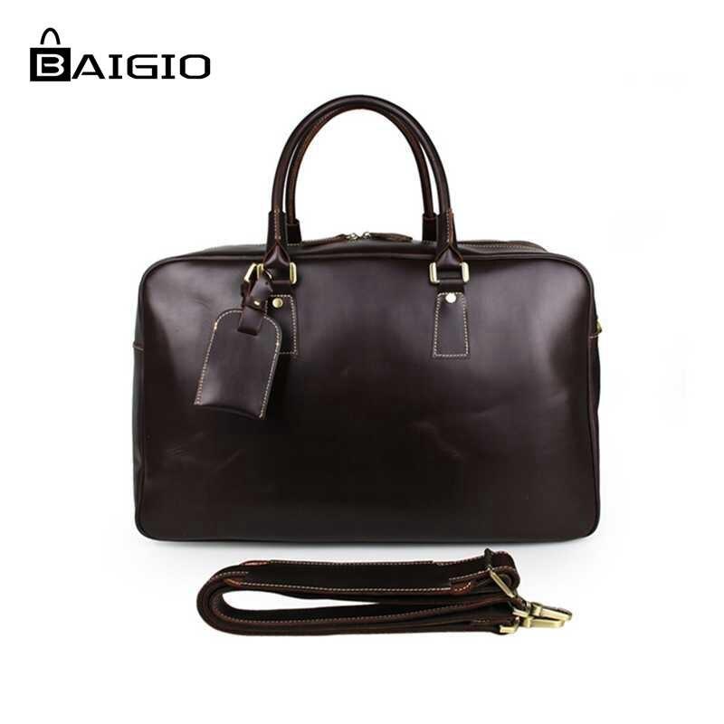 Designer leather travel bags