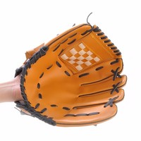 Outdoor Sports Brown Baseball Glove Softball Practice Equipment Left Hand For Adult Man Woman Training
