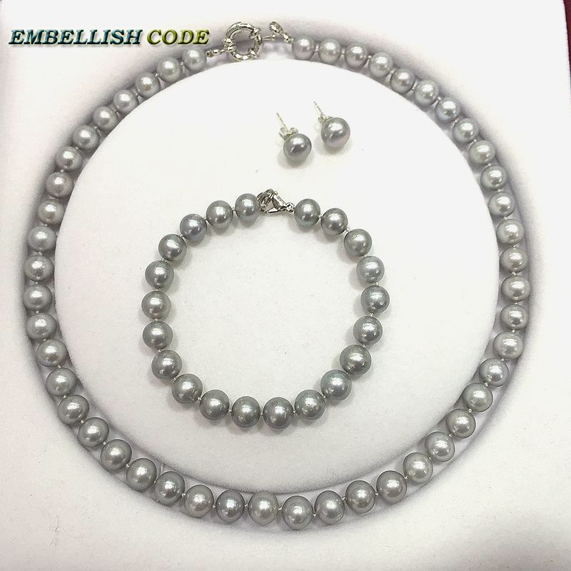 Grey Colour Earrings: Aliexpress.com : Buy Fine Jewelry Sets Necklace Bracelet