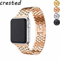 Edelstahl strap für Apple uhr band 44 mm 38mm iwatch band 42mm 40mm link armband correa armband für Apple uhr 5 4 3