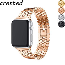 цена на Stainless Steel strap for Apple watch band 44 mm 38mm iwatch band 42mm 40mm link bracelet correa watchband for Apple watch 5 4 3