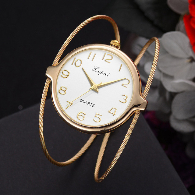 Lvpai Luxury Brand Women Quartz Watch Analog Rose Gold Wristwatch Relojes Mujer