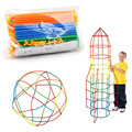 100/200 unids Montado Bloques de Construcción de Juguete Educativo de Los Niños Colorido Pajita De Plástico Insertados Lucha Bloques de Regalo de Navidad