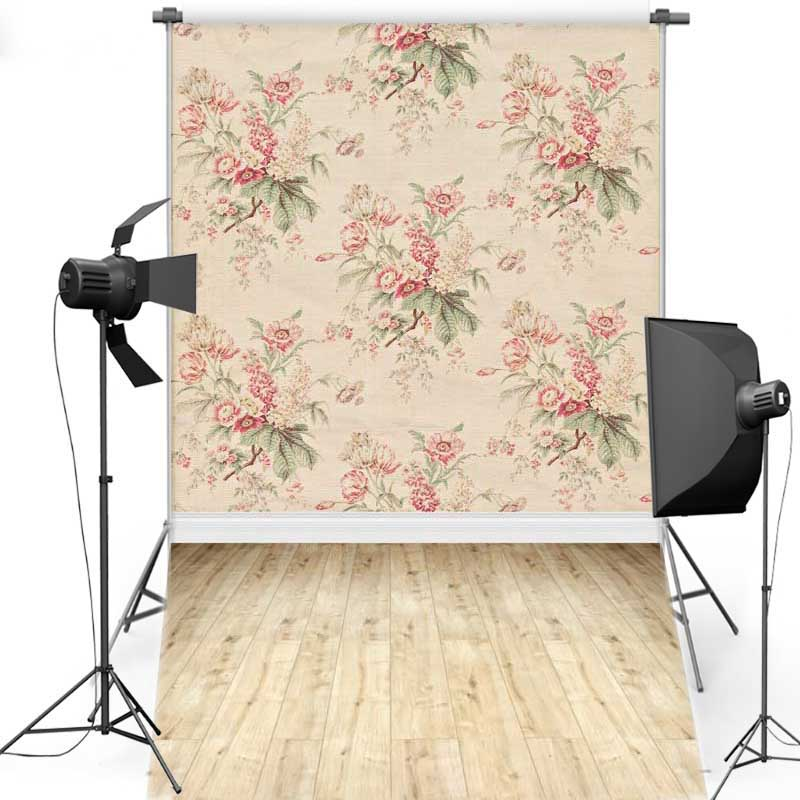 MEHOFOTO Floral Wall New Fabric Polyester Photography Background For Wedding Floor Vinyl Backdrop For Children Photo Studio 1176 photography background backdrop pink wall floral for newborn children kids vinyl