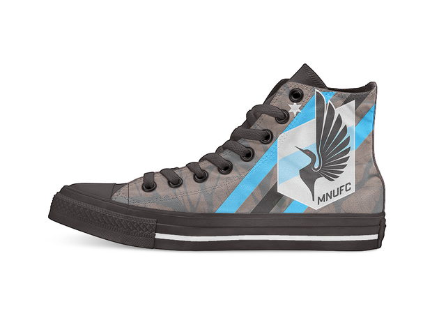 Minnesota United FC MLS Unisex High Top Canvas flat Casual Custom shoes Drop Shipping