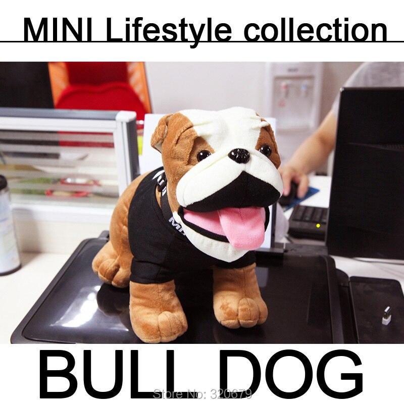 Prix pour MINI Bulldog bull chien en peluche En Peluche jouet voiture jouet