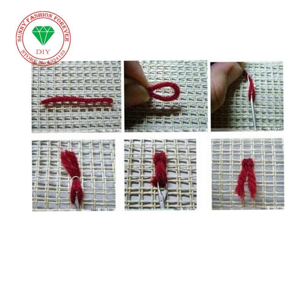 Diy ковер вышивка бабочка крючком пряжа для вязания Costura вышивка крестиком нитки ковры расшитые коврики