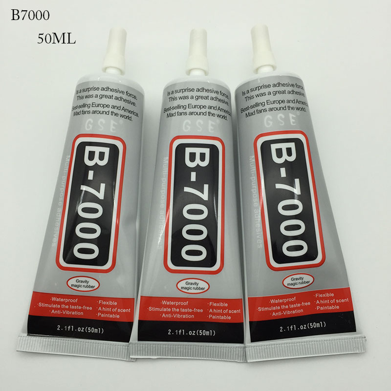 1pc Set 50ml Multi Purpose Adhesive B7000 Diy Tool Cellphone Samsung Iphone Lcd Touch Screen Middle Frame Housing Glue