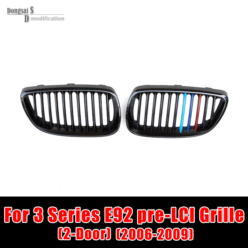 Taiwan Origin ABS Material E92 Grille Grill For BMW Pre-LCI 2006 - 2009 3 Series E92 M3 E93 330i 320i 325i 335i in M Color спойлер bmw e90 318i 320i 325i 330i m3