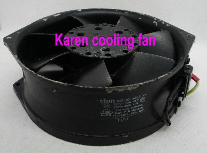 EBM Papst 17055 W2S130-AA03-44 220V AC Motor cooling Fan new original ebm papst iq3608 01040a02 iq3608 01040 a02 ac 220v 240v 0 07a 7w 4w 172x172mm motor fan