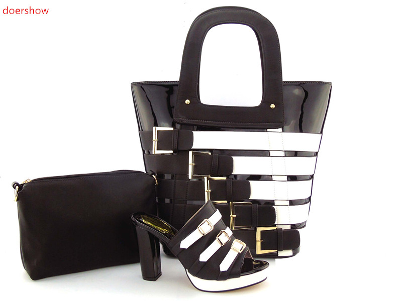 doershow High Quality Italian Shoe and Bag to Match Women Shoes African Party Shoes and Bag