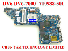 Wholesale laptop motherboard 710988-501 for HP ENVYDV6 DV6-7000 635M/2G Notebook PC system board 100% Tested 90 Days Warranty