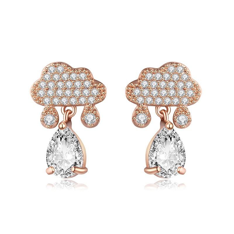 Stud Earring For Women Rose Gold Silver