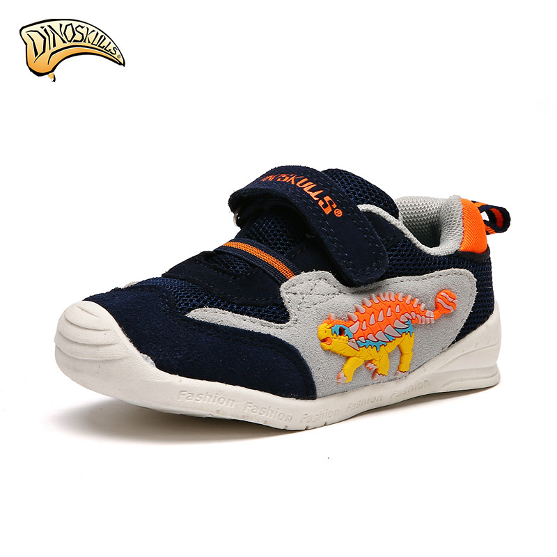 Children Casual Shoes Cartoon Dinosaur Boys Girls Sneakers Breathable Sport Shoes Kids Running Shoes Boys Sneakers dinoskulls new kids sport shoes children sneakers breathable leather boy running shoes 2018 girls leisure casual shoes