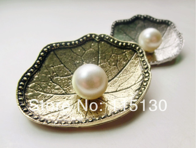 Retro Gold Plated Pearl Rhinestone Crystal Bridal Flower Brooch For Women White Pearl Flower Brooch Pin Fashion Jewelry Wholesal