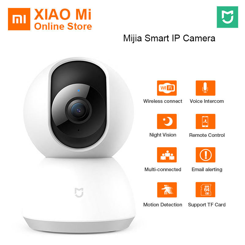 Original Xiaomi Mijia camera 360 Degrees Home Panoramic WiFi Cam Night Vision Smart Camera Webcam Camcorder