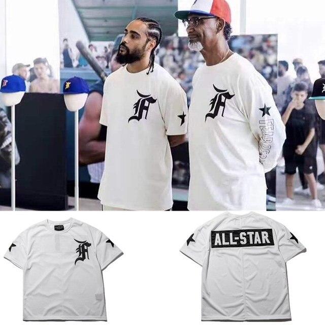 f0555286a487 Fear Of God T shirt Men Women 1:1 High Quality FOG ALL-STAR T-shirt Fashion  Casual Hip Hop Top Tees Fear Of God T shirt