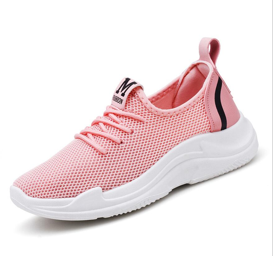 2018 fashion Women Sneakers Light Weight mehs Woman Casual Shoes Slip On Lazy Shoes Comfortable Candy Color Breathable Net Shoe