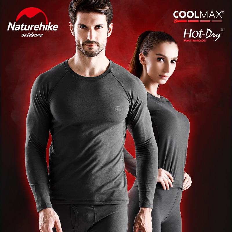 NatureHike New Winter Warm Base Layers Mens Underwear Sets Women Long Sleeve Tops Bottom Pants Set