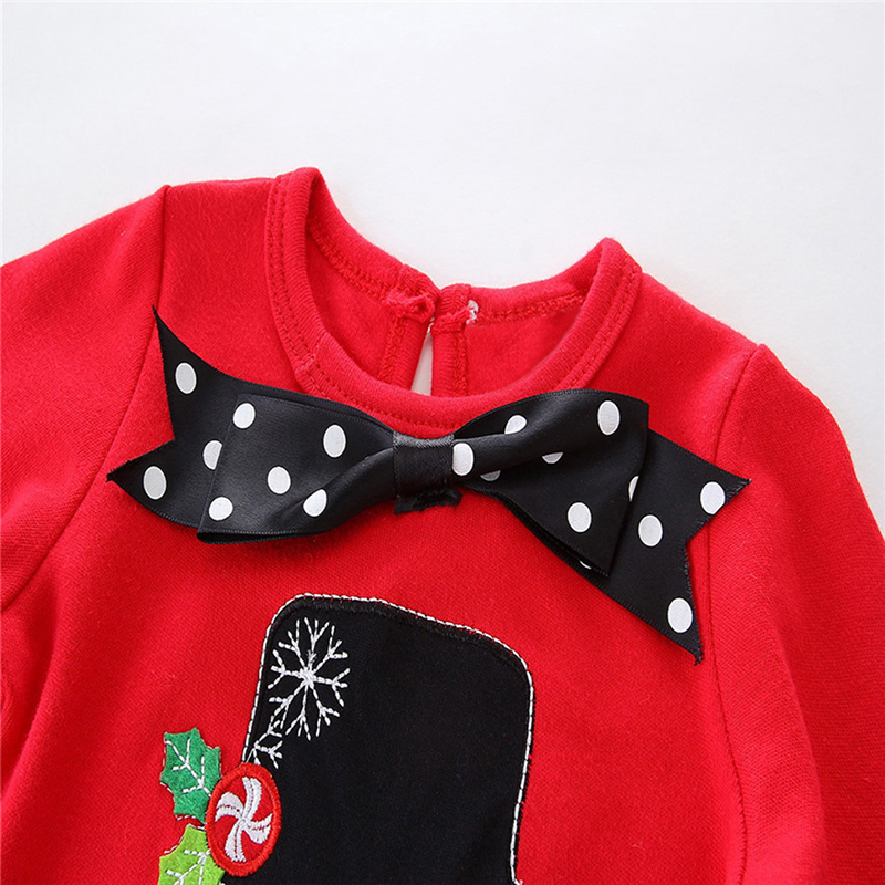 NWAD New Baby Girl Winter Clothes Fashion Christmas Snowman Bow Clothing Suit For Toddler Kids Polka Striped Clothes Set FF178