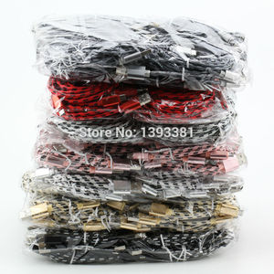 Image 4 - 100pcs 1M 2M 3M New High Speed Metal USB braided Data Fast Charger Cable Micro USB 8 pin Type C Charging Cord For Mobile Phones