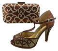 Italian Matching Shoe And Bag Set With Stones Italian Shoe With Matching Bag Good Quality Italy Shoe And Bag Set 1308-L12