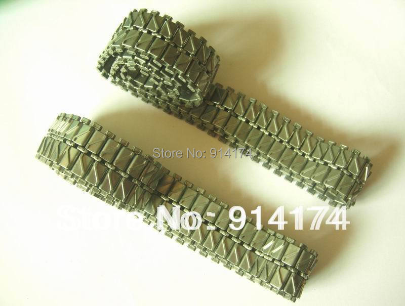 купить henglong 3838/3838-1 Snow Leopard 1/16 RC tank upgrade parts metal track 2pcs/set онлайн