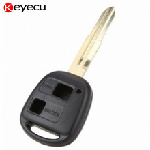 Keyecu 2 Button Replacement Remote Key Shell Case Cover Box with Uncut TOY41 Blade for Toyota Echo MR2 Plaz Yaris