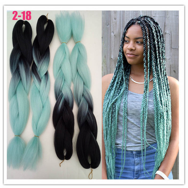 "13"" 13g ombre braiding hair for box braids hair synthetic ..."