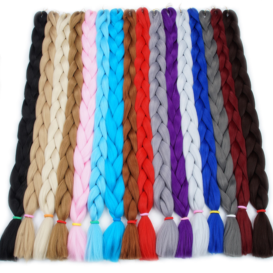 Falemei Braiding Hair 82inch 100cm Fold Longth Kanekalon Jumbo Braid Hair Extension 165g/pack Synthetic Crochet Hair For Dolls Famous For High Quality Raw Materials And Great Variety Of Designs And Colors Full Range Of Specifications And Sizes
