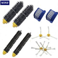 Free Post New 2 Bristle Flexible Beater 4 Armed Brush 2 Aero Vac Filterfor IRobot Roomba